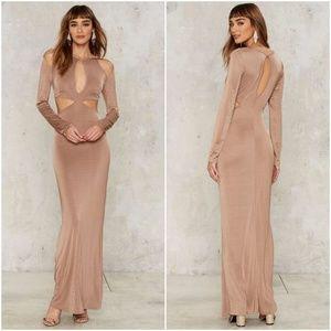 NWT Nasty Gal Glamorous Cut Out Maxi Dress